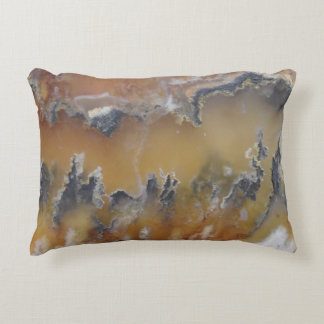 Fancy Natural Rock Mossy Agate Photo Designed Accent Pillow