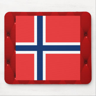 Fancy Norway Flag on red velvet background Mouse Pad