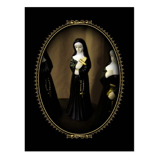 Fancy Nun Postcard
