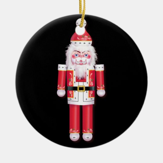 FANCY NUTCRACKER WHEEL by SHARON SHARPE Ceramic Ornament