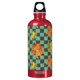 Fancy Octopus Checkered Pattern Liberty Bottle