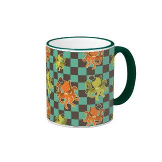 Fancy Octopus Checkered Pattern Mug Coffee Mug
