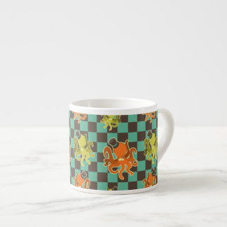 Fancy Octopus Checkered Pattern Specialty Mug