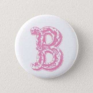 Fancy Old Style Font Monogram Letter B Button