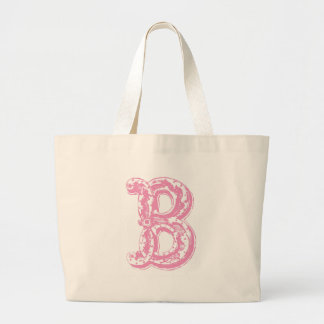 Fancy Old Style Font Monogram Letter B Large Tote Bag
