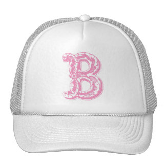 Fancy Old Style Font Monogram Letter B Trucker Hat