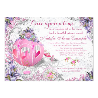 Fancy Once Upon a Time Fairy Tale Birthday Card