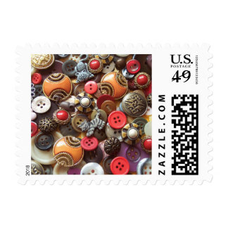 Fancy Orange Buttons and Kitty Buttons Postage