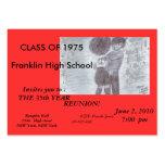 Fancy orange Class Reunion Card Business Card