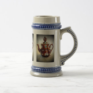 Fancy Ornate Antique English Teapot Coffee Pot Beer Stein