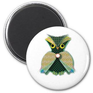 Fancy Owl Fridge Magnets