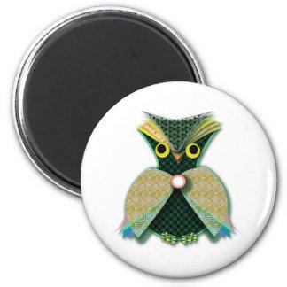 Fancy Owl Refrigerator Magnet