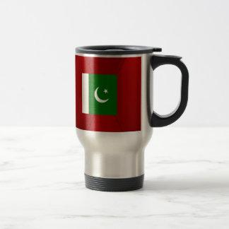 Fancy Pakistan Flag on red velvet background Travel Mug