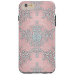 Fancy Pale Pink Girly Lacy Style  Damask Pattern Tough iPhone 6 Plus Case