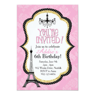 Fancy Paris Party Card