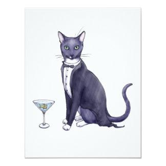 Fancy Party Cat Invitation