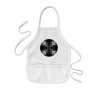 Fancy pattern in Black and White. Aprons