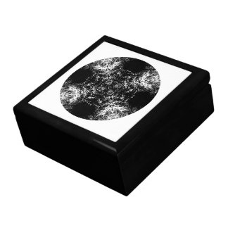Fancy pattern in Black and White Jewelry Box