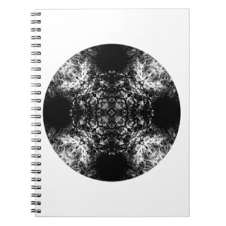 Fancy pattern in Black and White. Spiral Notebook