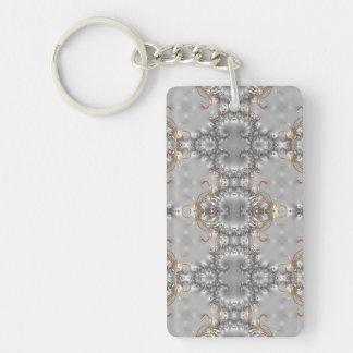 Fancy Pattern Key chain - Victorian Bling Styled