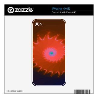 Fancy Peach Natalus Fractal iPhone 4 Skin
