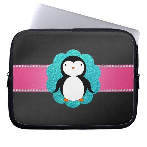 Fancy penguin laptop sleeves