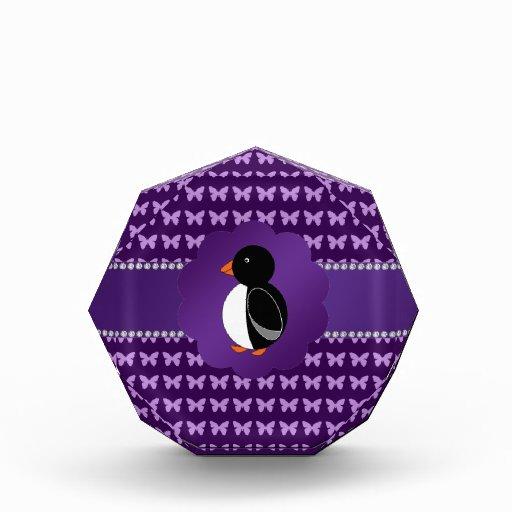 Fancy penguin purple butterflies awards