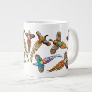 Fancy Pheasants Gamebirds Jumbo Mug 20 Oz Large Ceramic Coffee Mug