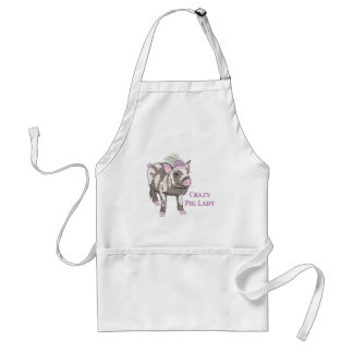 Fancy Pig Lady Adult Apron