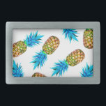 """Fancy pineapples belt buckle<br><div class=""""desc"""">The image of pineapple is edited from photo.</div>"""