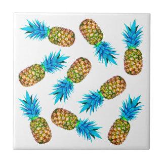 Fancy pineapples ceramic tile