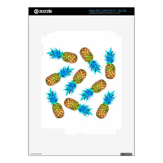 Fancy pineapples decal for iPad 3