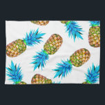 """Fancy pineapples kitchen towel<br><div class=""""desc"""">The image of pineapple is edited from photo.</div>"""