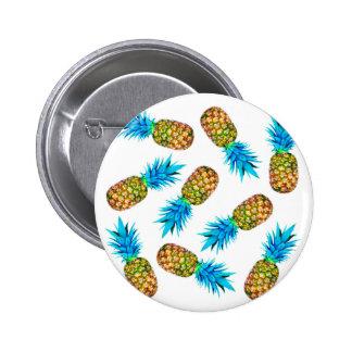 Fancy pineapples pinback button