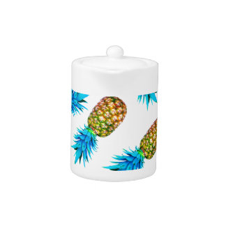 Fancy pineapples teapot