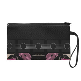 Fancy Pink Abstract Wristlet