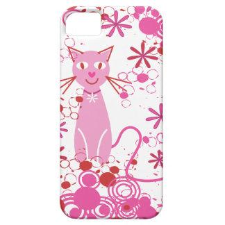 Fancy Pink Cat iPhone SE/5/5s Case