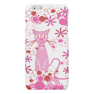 Fancy Pink Cat Matte iPhone 6 Case