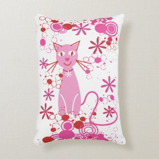 Fancy Pink Cat Throw Pillow Home Decor