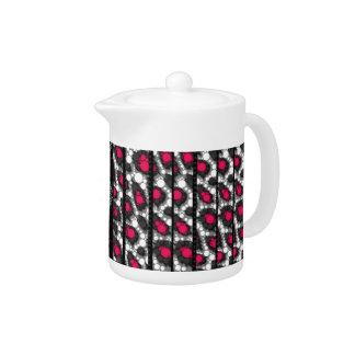 Fancy Pink Cheetah Zebra Teapot