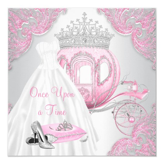 Cinderella Invitations Announcements – Cinderella Birthday Card