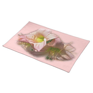 Fancy Pink Daylilies Cloth Placemat