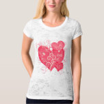 Fancy Pink Girly Hearts Abstract Art T Shirt