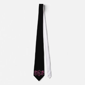 Fancy Pink I Hate You Neck Tie