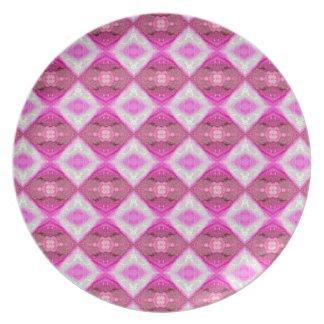 Fancy Pink Melamine Plate