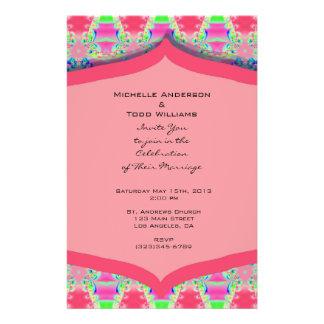 Fancy Pink Pattern Wedding Flyer