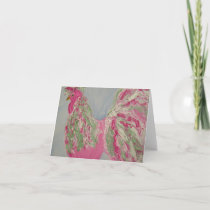 Fancy Pink Rooster Notecard