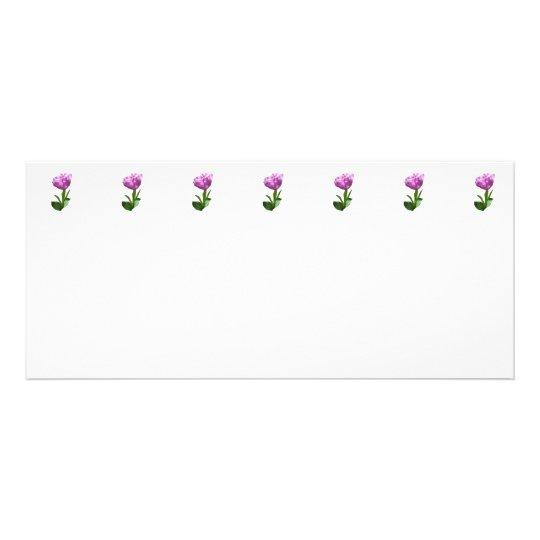 Fancy Pink Tulip Rack Card