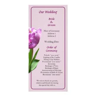 Fancy Pink Tulip Wedding Program
