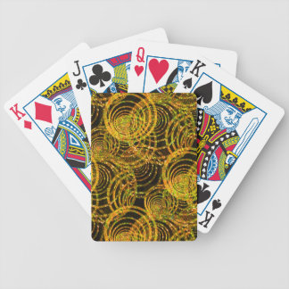Fancy Playing Cards in Gold Spiral Springs Design